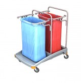 <p><b>Double plastic waste trolley TSO-0005</b><br />