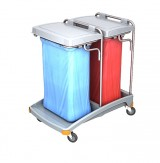 <p><b>Double plastic waste trolley TSO-0006</b><br />