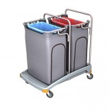 <p><b>Double plastic waste trolley TSO-0007</b></p>
