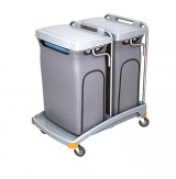 <p><b>Double plastic waste trolley TSO-0008</b></p>