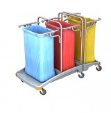 <p><b>Triple plastic waste trolley TSO-0009</b></p>