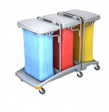 <p><b>Triple plastic waste trolley TSO-0010</b></p>