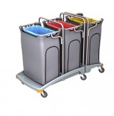 <p><b>Triple plastic waste trolley TSO-0011</b></p>