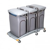 <p><b>Triple plastic waste trolley TSO-0012</b></p>