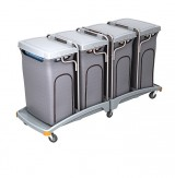 <p><b>Quadruple plastic waste trolley TSO-0016 </b></p>