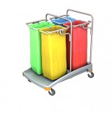 <p><b>Quadruple plastic waste trolley 4x70 TSO-0021 </b></p>