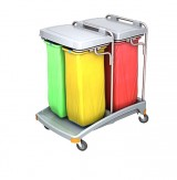 <p><b>Quadruple plastic waste trolley 4x70 TSO-0022 </b></p>