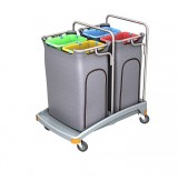 <p><b>Quadruple plastic waste trolley 4x70 TSO-0023 </b></p>