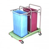 <p><b>Double plastic waste trolley 02.120. TS TSOA-0005 </b></p>