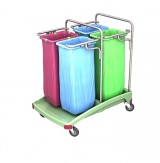 <p><b>Quadruple plastic waste trolley 04.70. TS TSOA-0021 </b></p>